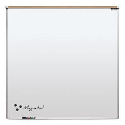 Heavy-Duty Porcelain Steel Magnetic Dry Erase Board w/ Aluminum Frame & Maprail (4' W x 4' H)