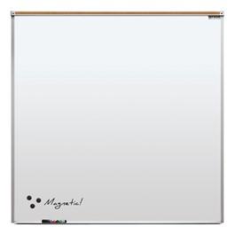 Heavy-Duty Porcelain Steel Magnetic Dry Erase Board w/ Aluminum Frame & Maprail (4\' W x 4\' H)