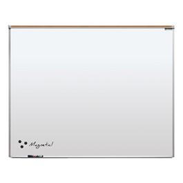 Heavy-Duty Porcelain Steel Magnetic Dry Erase Board w/ Aluminum Frame & Maprail (5\' W x 4\' H)