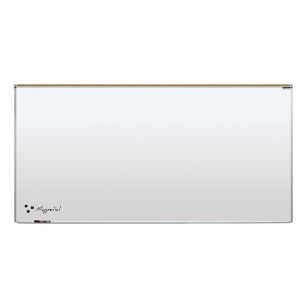 Heavy-Duty Porcelain Steel Magnetic Dry Erase Board w/ Aluminum Frame & Maprail (8' W x 4' H)