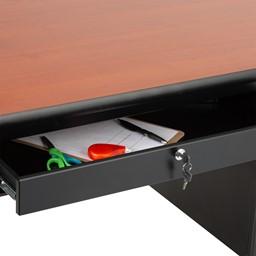 Single-Pedestal Teacher Desk - Center Drawer