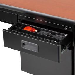 Single-Pedestal Teacher Desk - Pedestal Top Drawer