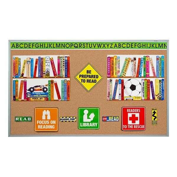 Economy Natural Cork Bulletin Board w/ Aluminum Frame