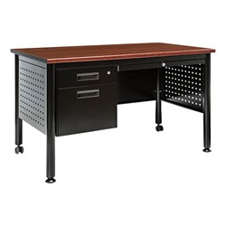 Glide Series Single Pedestal Mobile Teacher Desk