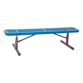 Heavy-Duty Park Bench w/o Back - Round Perforations - Portable (6\' L)