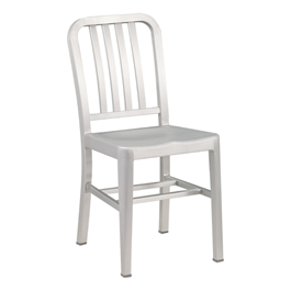 "Aluminum Café Chair - 18"" Seat Height"