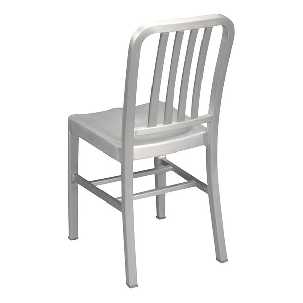 "Aluminum Café Chair - 18"" Seat Height - Back"