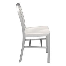 "Aluminum Café Chair - 18"" Seat Height - Side"