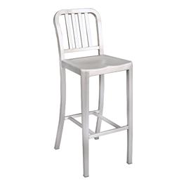 """Aluminum Café Stool - 30 1/8\"""" Seat Height"""