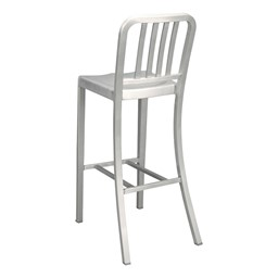 "Aluminum Café Stool - 30 1/8"" Seat Height - Back"