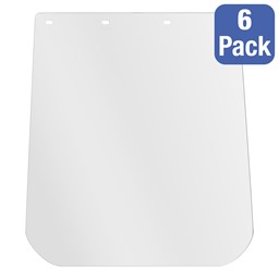 Adjustable Face Shield w/ Replaceable Visor - One Size Fits All (Pack of Six)