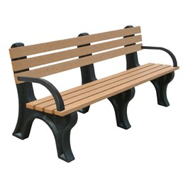 Recycled Plastic Bench w/ Arms (6\' L)
