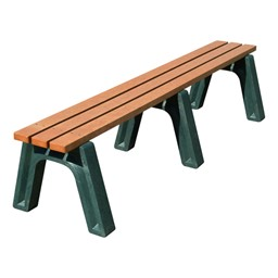 Recycled Plastic Flat Park Bench