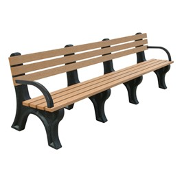 Recycled Plastic Bench w/ Arms (8\' L)