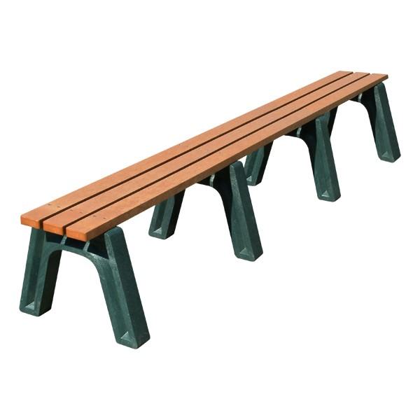 Recycled Plastic Flat Park Bench (8' L)