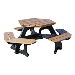 Decorative Hexagon Recycled Plastic Picnic Table At School Outfitters - Recycled plastic hexagonal picnic table