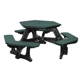 Decorative Hexagon Recycled Plastic Picnic Table