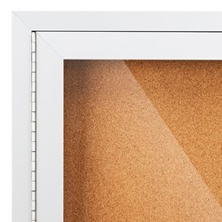 Outdoor/Indoor Enclosed Cork Bulletin Board w/ One Door - Hinge