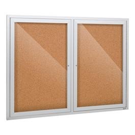 Outdoor/Indoor Enlcosed Cork Bulletin Board w/ Two Doors