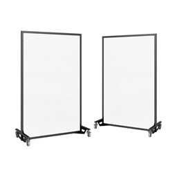 "Portable Ballistic Partition (6' 6"" H x 4' W) - Magnetic Dry Erase Board"