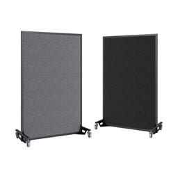 "Portable Ballistic Partition (6' 6"" H x 4' W) - Tackable Fabric"