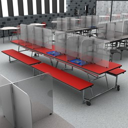 Table Divider Sneeze Guard - Rectangle Table