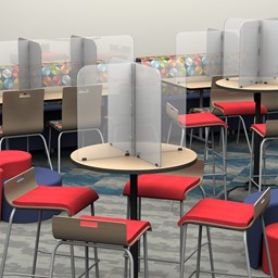 Table Divider Sneeze Guard - Round or Square Table