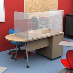Teacher's Desk Sneeze Guard Carrel