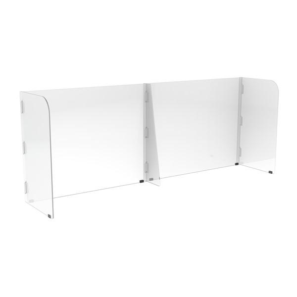 Countertop Sneeze Guard - 2 Panel Barrier