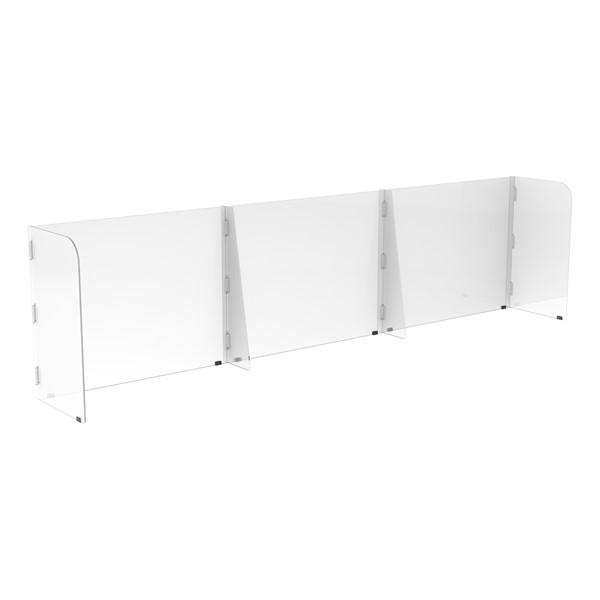 Countertop Sneeze Guard - 3 Panel  Barrier