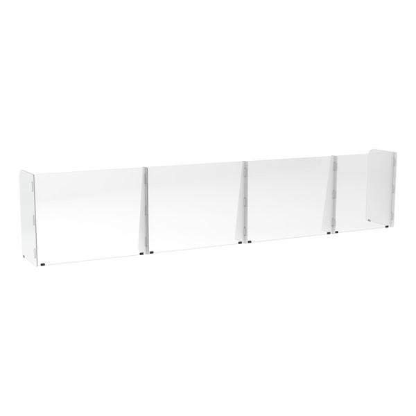 Countertop Sneeze Guard - 4 Panel Barrier