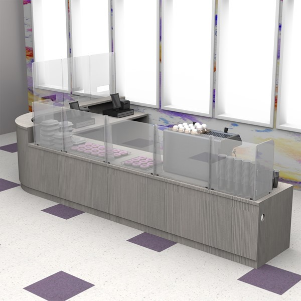 Countertop Sneeze Guard  - 5 Panel  Barrier