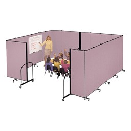 "7' 4"" H Freestanding Portable Partition - 7 Panels (13' 1"" L) - sold separately"