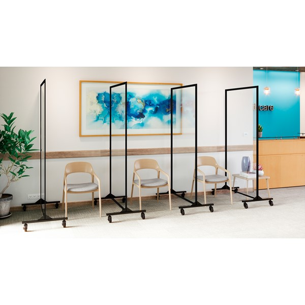 "6' 2"" H Healthy Safeguard Clear Room Divider - One Panel"