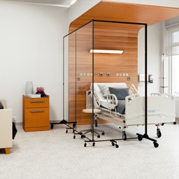 Healthy Safeguard Clear Room Divider - Three Panel (Around Hospital Beds)