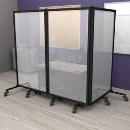 Healthy Safeguard Clear Room Divider - Three Panel (Around Teacher Desk)