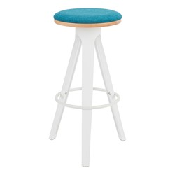 Low-Back Cafe Stool w/ White Legs - Shown w/o back attached