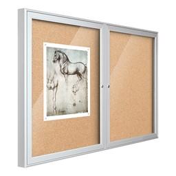Indoor Enclosed Bulletin Board w/ Two Doors