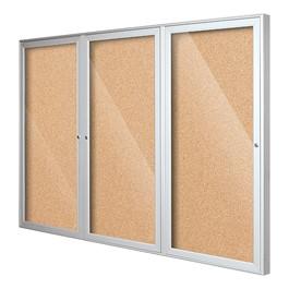 Indoor Enclosed Bulletin Board w/ Three Doors