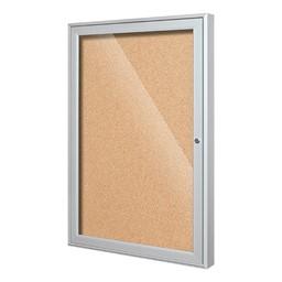 Indoor Enclosed Bulletin Board w/ One Door
