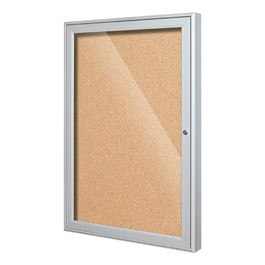 Indoor Enclosed Bulletin Board w/ One Door