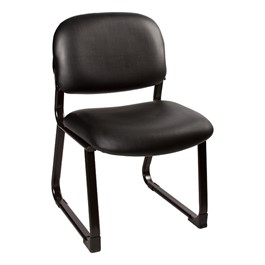 Antimicrobial Guest Chair w/ out Arms - Black