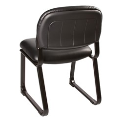 Antimicrobial Guest Chair w/ out Arms - Black - Back view