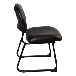 Antimicrobial Guest Chair w/ out Arms - Black - Side view