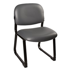 Antimicrobial Guest Chair w/ out Arms - Black - Charcoal