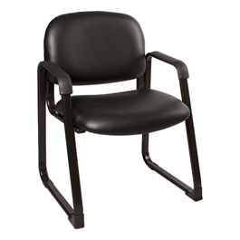Antimicrobial Guest Chair w/ Arms - Charcoal