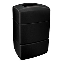 Rectangle Plastic Trash Can w/ Lid