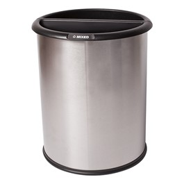 Indoor Trash & Recycling Bin - Stainless Steel