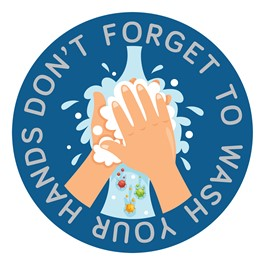 Don\'t Forget to Wash Your Hands Sticker