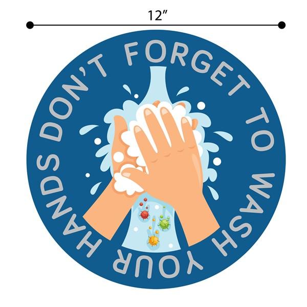 Don't Forget to Wash Your Hands Sticker